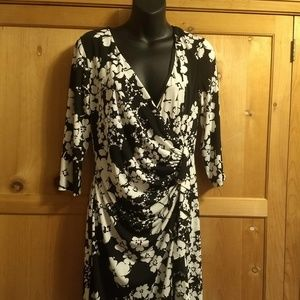 stretchy faux wrap dress